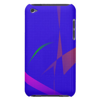 Simple Blue Abstract with Slashing Colors Barely There iPod Case