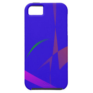 Simple Blue Abstract with Slashing Colors iPhone 5 Covers