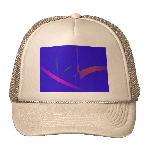 Simple Blue Abstract with Slashing Colors Hats