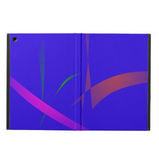Simple Blue Abstract with Slashing Colors iPad Air Cases