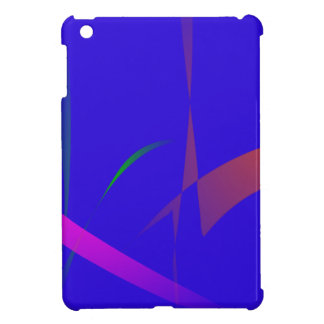 Simple Blue Abstract with Slashing Colors iPad Mini Cases