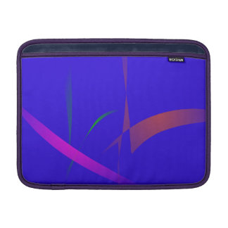 Simple Blue Abstract with Slashing Colors MacBook Air Sleeve
