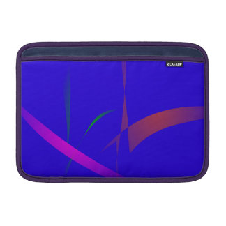 Simple Blue Abstract with Slashing Colors Sleeves For MacBook Air