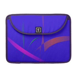 Simple Blue Abstract with Slashing Colors Sleeve For MacBooks
