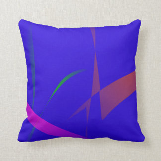 Simple Blue Abstract with Slashing Colors Pillows