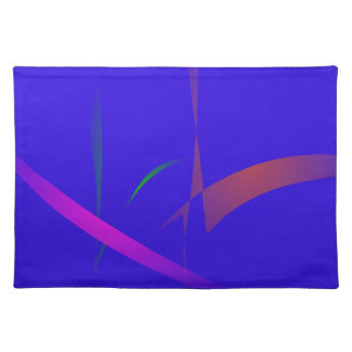Simple Blue Abstract with Slashing Colors Cloth Place Mat