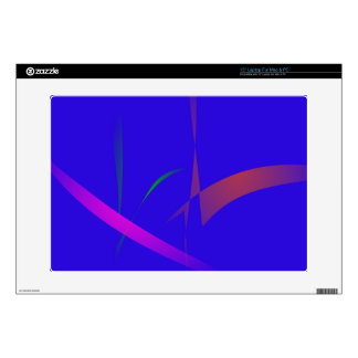 """Simple Blue Abstract with Slashing Colors 15"""" Laptop Decal"""