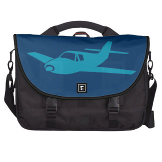 Simple blue airplane laptop wheeled carry bag computer bag