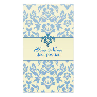 Simple Blue and White Business Cards Pack Of Standard Business Cards