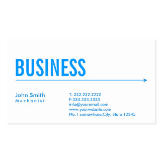 Simple Blue Arrow Mechanic Business Card