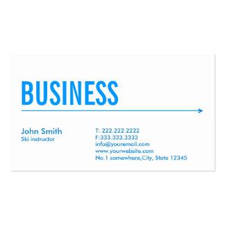 Simple Blue Arrow Ski Business Card