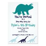 "Simple Blue Dinosaur Birthday Party Invitations 5"" X 7"" Invitation Card"