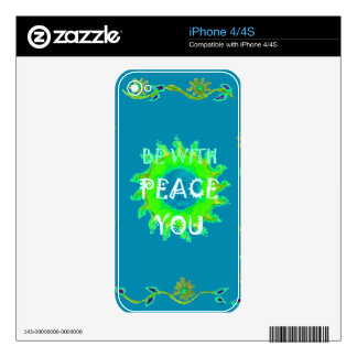 Simple Blue Floral Design Decals For The iPhone 4S