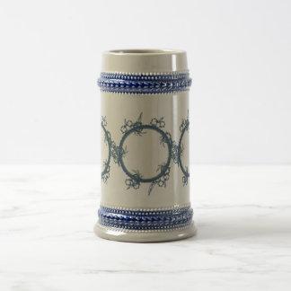 Simple Blue Fractal Mugs