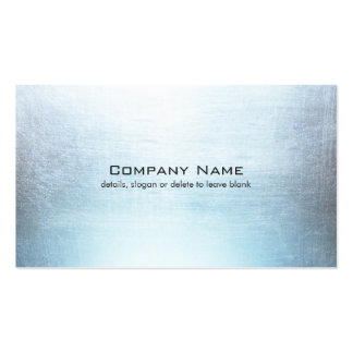 Simple Blue Gray Brushed Metal Look Business Card
