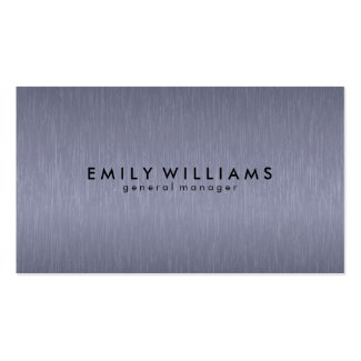 Simple Blue-gray Carbon Fiber Texture Double-Sided Standard Business Cards (Pack Of 100)