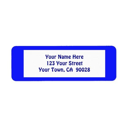 simple blue label