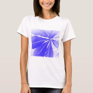 Simple Blue Leaf T-Shirt