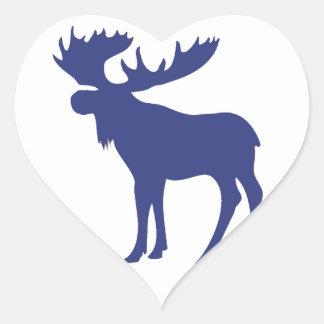 Simple blue moose symbol stickers