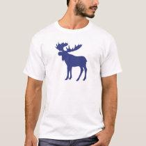 Simple blue moose symbol T-Shirt