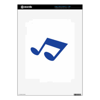 Simple blue note iPad 2 decal