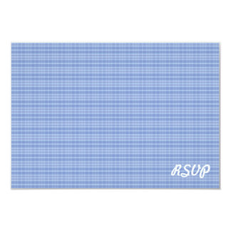 Simple Blue Paid Pattern RSVP Invitation
