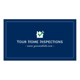 Simple Blue Plain Home Inspections Business card