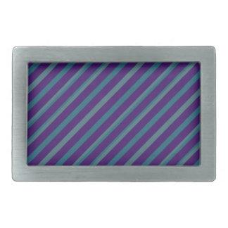 Simple Blue Purple Stripe Rectangle Buckle Rectangular Belt Buckle