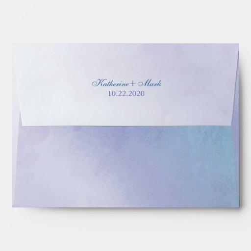 simple blue purple wedding invitation a7 envelopes zazzle