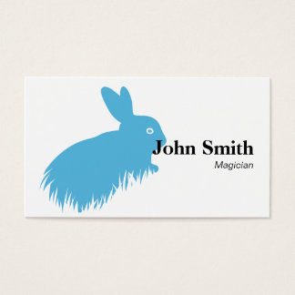 Simple Blue Rabbit Magician Business Card