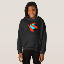 Simple blue red circle lines pattern strong colors hoodie