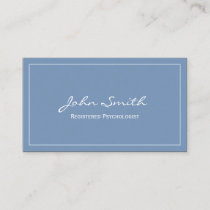Simple Blue Registered Psychologist Business Card