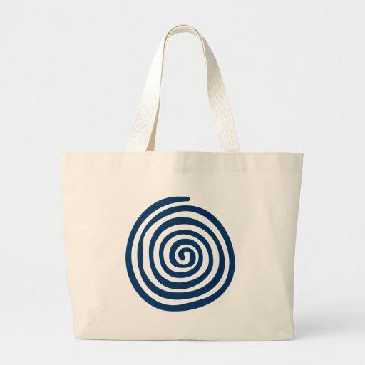 Simple Blue Spiral Jumbo Tote Bag