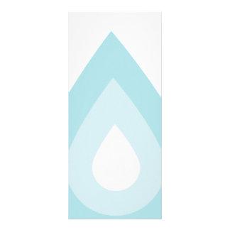Simple Blue Water Drop Custom Rack Card