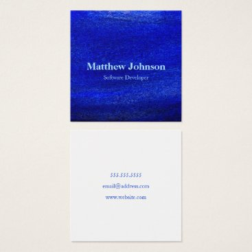 Professional Business Simple Blue Watercolor Freelance Business Cards