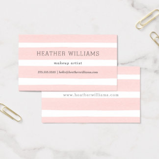 Simple Blush Pink Watercolor Business Card