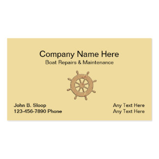 Boat repair business cards templates zazzle for Boat business cards