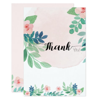 Simple Boho Style Thank You Note Card