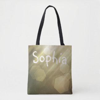 Simple Bokeh Custom Name Bag