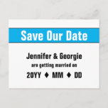 """[ Thumbnail: Simple, Bold """"Save Our Date"""" Postcard ]"""
