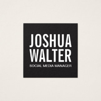 Simple Bold Square Business Card