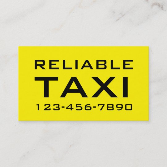 simple bold taxi business cards - Taxi Business Cards