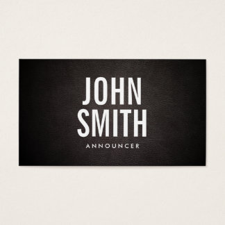 Simple Bold Text Announcer Business Card