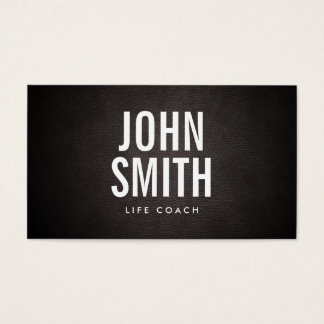 Simple Bold Text Life Coach Business Card