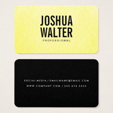 Professional Business Simple Bold Text Yellow Texture Business Card