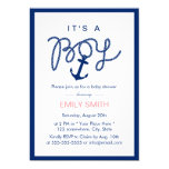 Simple Border Nautical Anchor Boy Baby Shower Card
