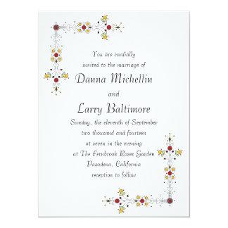 Simple Border Wedding Invitation