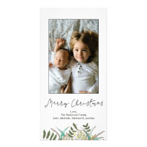 Simple Botanical Leaf Merry Christmas Card