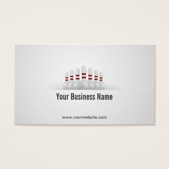 Simple Bowling Ball Business Card