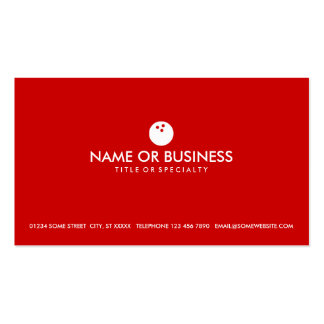 simple bowling Double-Sided standard business cards (Pack of 100)